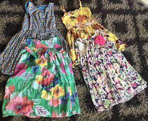 Girls Flowery Summer Dresses Bundle John Lewis Next Age 6-7-8 VGC