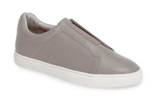 Halogen Carmen Womens Grey Leather Slip On Sz 8M 4372