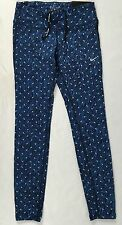 NIKE Epic Run Tight Women's Leggings Dri-Fit Blue Print 799826 Size XS