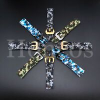 20-24 MM Camouflage Camo Rubber Strap Band Fits for Breitling Super Ocean Diver
