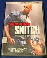 """SNITCH - DVD - Digital Copy - Ultraviolet - Dwayne """"The Rock""""  Johnson - 94"""
