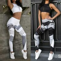 Women's Gym Yoga Leggings Running Workout Pants Jogging Fitness Stretch Trousers