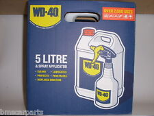 WD40 5 LITRE + APPLICATOR WD-40 5LTR MULTI-USE LUBRICANT FREE Next Day POSTAGE