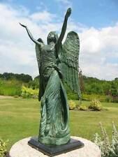 Bronzeskulptur, Engel, Grabdekoration, Gartendekoration aus Bronze