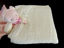 Organic Cotton Bamboo Muslin Blanket Swaddle Toddler Large Size Kids Soft White