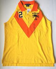 New RALPH LAUREN Polo Club Yellow & Orange Sleeveless Polo Shirt - XL #2