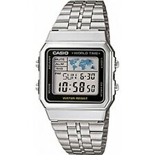 Casio Mens Stainless Steel Quartz A500WEA1EF World Time Bracelet Wrist Watch