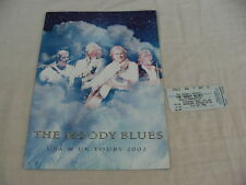 THE MOODY BLUES USA & UK TOURS 2002 CONCERT PROGRAMME & TICKET