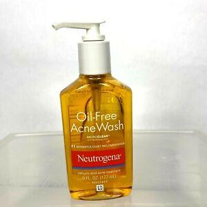 Neutrogena Oil Free Acne Face Wash 6 FL OZ Salicylic Acid Treatment Microclear