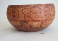 PreColumbian Mayan terracotta bowl circa 650 Ad to 850 Ad