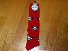 NEW WITH TAG - OZONE RIDERS SOCKS - RED WITH SKULLS  PRINT