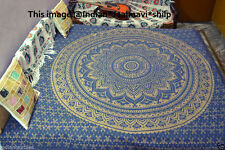 Ombre Mandala Wall Hanging Ethnic Bedspread Cotton Hippie Blanket Cover Decor