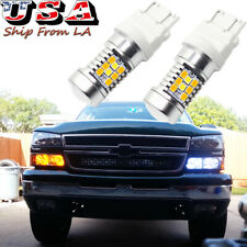 Switchback LED Turn Signal Light Bulbs for Chevy Silverado 1500 1999-2013 3157