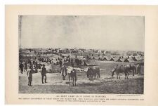 "1914 ""An Army Camp As It Looks In Wartime"" Servian Camp at Uskub Lithograph"