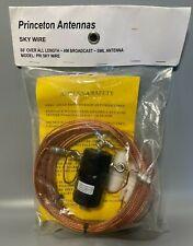 New Princeton Antenna Sky Wire AM Broadcast SWL 66' Dipole Ham Radio w Manual