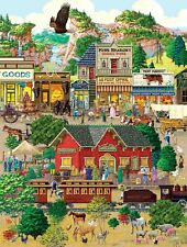 Jigsaw Puzzle Americana Landscape A Western Town 500 EZ Oversized pieces NEW USA
