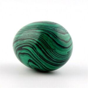 Natural Green Malachite Jade Egg Rock Crystal Fossil Original Stone Ornament