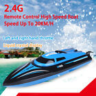 TK H100 2.4G Water Cooling High Speed RC Simulation Racing Boat Outdoor Toy Blue