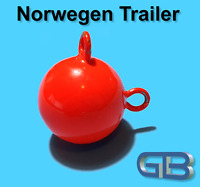 Norwegen Trailer, 40g 50g 75g 100g Sea Trailer, Kugelblei mit Öse, Jigkopf