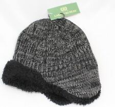NWT LAKE of the ISLES Knit Aviator/Trapper Hat - Black