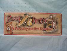 Vintage look Peanut Brittle Metal Advertising Sign Christmas Stocking New