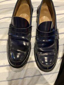 churchs' tunbridge navy blue loafers size 10.5 good condition