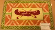 """KITCHEN ACCENT RUG (nonskid) (17""""  x 28"""") NAUTICAL, SEA, BOATS, CANOE by EE"""