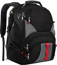 """Black 17"""" Computer Laptop Backpack College Bag School with USB Charger Port"""