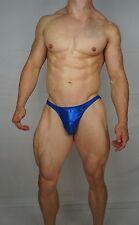 MEN'S BLUE SHINY POSING SUIT TRUNKS BODYBUILDER Muscle  $54.00 MEDIUM