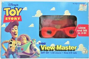 DISNEY TOY STORY VIEW MASTER GIFT SET 3D VIEWER AND (3)3D REELS 1995 NEW VINTAGE