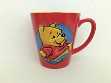 Winnie The Pooh Walt Disney World Red & Blue Ceramic 2 Toned Coffee Mug 12 ounce