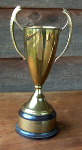 """Vintage 1950 ELWOOD SOCIETY HORSE SHOW TROPHY CUP """"DISTRUST ME"""" EQUESTRIAN"""
