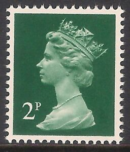 GB 1979 sg X850 2p Myrtle-Green Photogravure 'All Over' Phosphor MNH