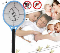 Cordless Rechargeable Bug Zapper  Insect Electric Fly Swatter Racket