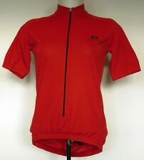 Bellwether Red Cycling Jersey Short Sleeve Textured Poly Mesh Front Zip Shirt S
