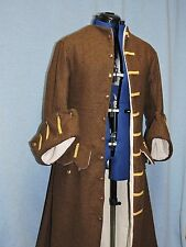 Custom Made Renaissance Pirate Jack Sparrow style frock coat with extra details
