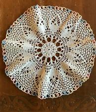 Vintage Doily Pastel Border Hand Crochet Cotton Lace Vanity Decorative Linen