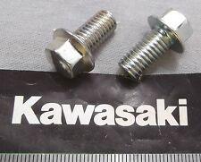 Genuine Kawasaki Tornillo embridado Hex 8mm M8x16mm Acabado Brillante 132G0816 2-Pack