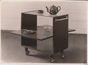 Deutsche Werkstätten AG: Werkfoto Teewagen, um 1930, Original Vintage Fotografie