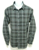 Columbia Shirt Mens Size Medium Gray Plaid Button Up Long Sleeve Cotton Flannel