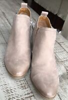 New Franco Sarto Womens GLENN Ankle boots Brown Leather Booties Size 7.5
