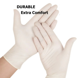 100 PCS Latex & Latex Examination & Nitrile Gloves Powder Free
