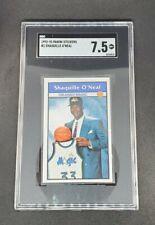 New listing Shaquille O'Neal 1992-93 Panini Sticker Rookie Card #1 SGC 7.5 Shaq