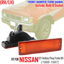 Pair Front Bumper Turn Signal for NISSAN D21 Hardbody Pickup Frontier BDI 86 92