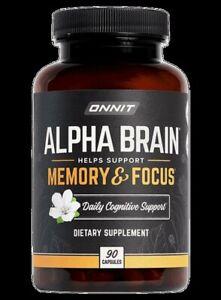 Onnit Alpha BRAIN® Memory & Focus 90 capsules + free ship