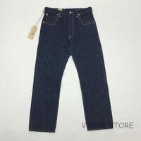 BOB DONG WABASH Trousers Selvage Vintage Men's Railroad Striped Work Pants Blue