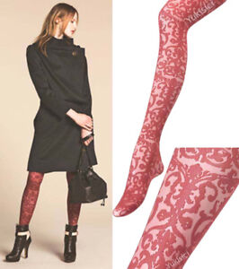 Vivienne Westwood Japan Pantyhose Stocking Tights Iron Pattern-Size M-L