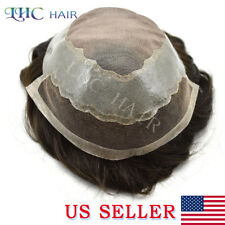 Super Fine Mono French Lace Mens Toupee Natural Hairline Indian Remy Hair System
