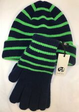 Paul Smith Men Scarf, Gloves Set 100% Lambs Wood Made In Scotland Navy