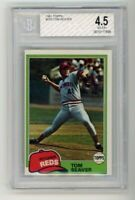 1981 Topps #220 Tom Seaver Reds Baseball Card BGS/BVG 4.5 Graded HOF